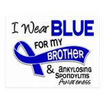 I Wear Blue Brother 42 Ankylosing Spondylitis Post Cards