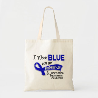 I Wear Blue Brother-In-Law 42 Ankylosing Spondylit Bags