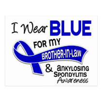 I Wear Blue Brother-In-Law 42 Ankylosing Spondylit Postcard