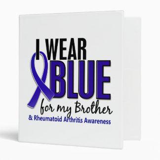 I Wear Blue Brother Rheumatoid Arthritis RA 3 Ring Binder