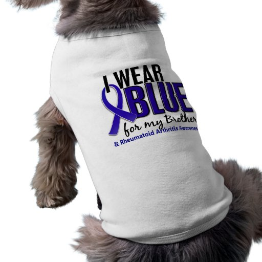 I Wear Blue Brother Rheumatoid Arthritis RA Dog Tshirt