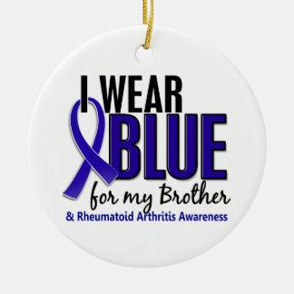 I Wear Blue Brother Rheumatoid Arthritis RA Christmas Ornament