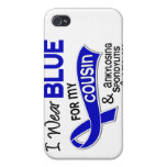I Wear Blue Cousin 42 Ankylosing Spondylitis Covers For iPhone 4