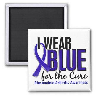 I Wear Blue Cure Rheumatoid Arthritis RA 2 Inch Square Magnet