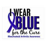 I Wear Blue Cure Rheumatoid Arthritis RA Post Cards