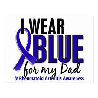 I Wear Blue Dad 10 Rheumatoid Arthritis RA Postcard