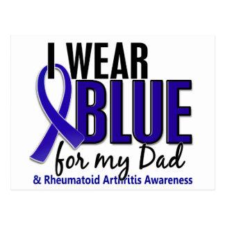 I Wear Blue Dad 10 Rheumatoid Arthritis RA Postcard