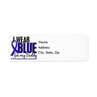 I Wear Blue Daddy 10 Rheumatoid Arthritis RA Label