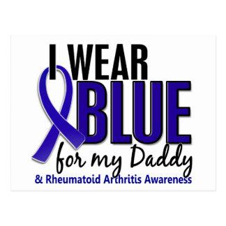 I Wear Blue Daddy 10 Rheumatoid Arthritis RA Postcard