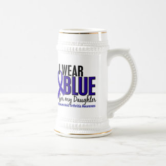 I Wear Blue Daughter Rheumatoid Arthritis RA 18 Oz Beer Stein