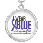 I Wear Blue Daughter Rheumatoid Arthritis RA Round Pendant Necklace