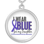 I Wear Blue Daughter Rheumatoid Arthritis RA Round Pendant Necklace