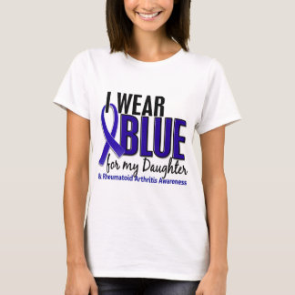 I Wear Blue Daughter Rheumatoid Arthritis RA T-Shirt
