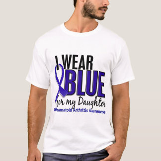 I Wear Blue Daughter Rheumatoid Arthritis RA T-Shirt