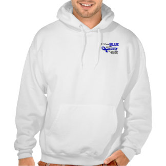 I Wear Blue Father 42 Ankylosing Spondylitis Hooded Pullovers