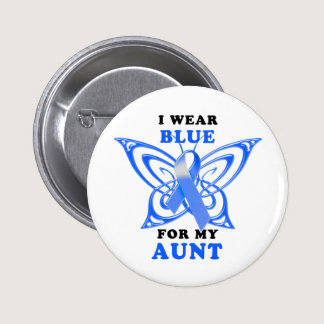 I Wear Blue for my Aunt Button