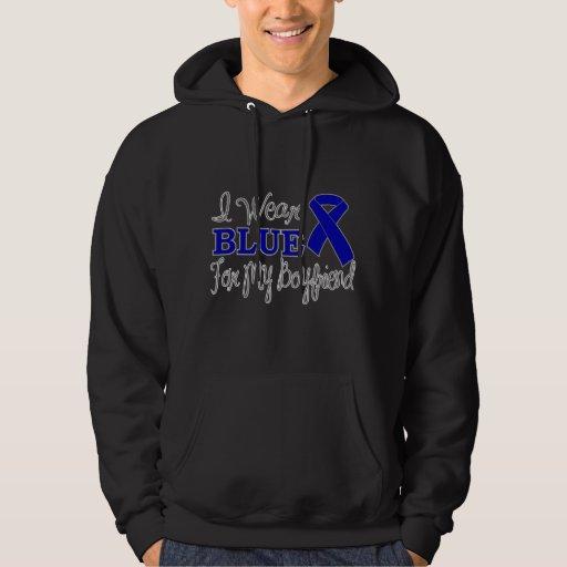 I Wear Blue For My Boyfriend (Blue Ribbon) Hooded Pullovers
