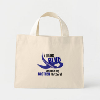 I Wear Blue For My Brother 33 COLON CANCER Bags
