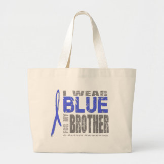 I wear blue for my brother canvas bags