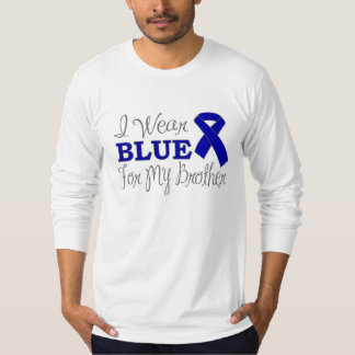 I Wear Blue For My Brother (Blue Awareness Ribbon) T-Shirt