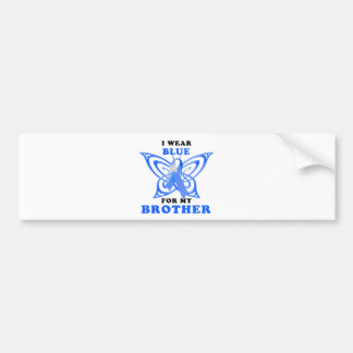 I Wear Blue for my Brother Bumper Sticker