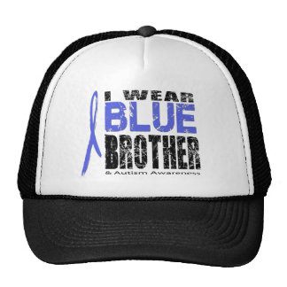 I wear blue for my brother mesh hats