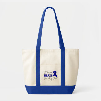 I Wear Blue For My Dad Blue Awareness Ribbon Tote Bag