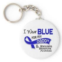I Wear Blue For My Daddy 42 Ankylosing Spondylitis Keychain