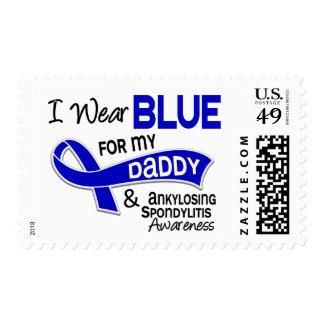 I Wear Blue For My Daddy 42 Ankylosing Spondylitis Postage Stamps