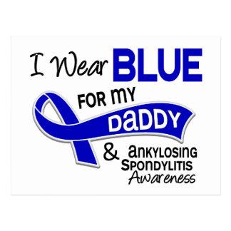 I Wear Blue For My Daddy 42 Ankylosing Spondylitis Postcard