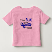 I Wear Blue For My Daddy 42 Colon Cancer Toddler T-shirt