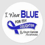 I Wear Blue For My Daughter 42 Colon Cancer Round Stickers