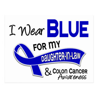 I Wear Blue For My Daughter-In-Law 42 Colon Cancer Postcard