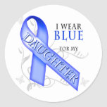 I Wear Blue for my Daughter Stickers