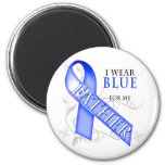 I Wear Blue for my Father Fridge Magnets
