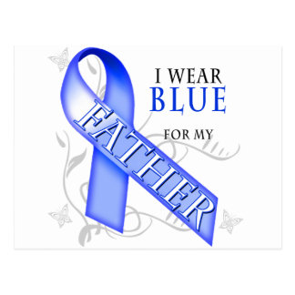 I Wear Blue for my Father Postcard