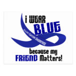 I Wear Blue For My Friend 33 COLON CANCER Post Card