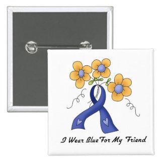I Wear Blue For My Friend Pinback Button