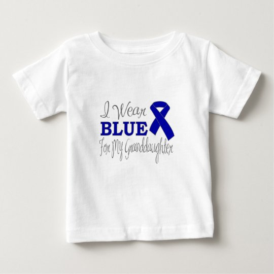 I Wear Blue For My Granddaughter (Blue Ribbon) Baby T-Shirt