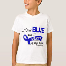 I Wear Blue For My Grandma 42 Colon Cancer T-Shirt