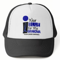 I Wear Blue For My Grandma 9 COLON CANCER T-Shirts Trucker Hat