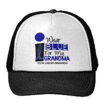 I Wear Blue For My Grandma 9 COLON CANCER T-Shirts Trucker Hat