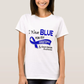 I Wear Blue For My Grandpa 42 Colon Cancer T-Shirt