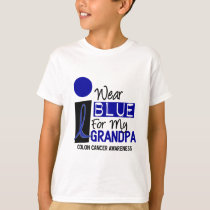 I Wear Blue For My Grandpa 9 COLON CANCER T-Shirts