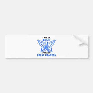 I Wear Blue for my Great Grandpa Bumper Sticker