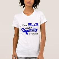 I Wear Blue For My Husband 42 Colon Cancer T-Shirt
