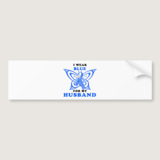 I Wear Blue for my Husband Bumper Sticker