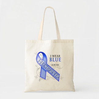 I Wear Blue for my Husband Canvas Bag