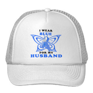 I Wear Blue for my Husband Trucker Hat