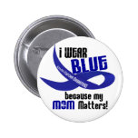I Wear Blue For My Mom 33 COLON CANCER AWARENESS Pinback Buttons